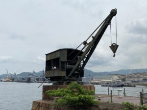 アレイからすこじまの魚雷積載クレーン